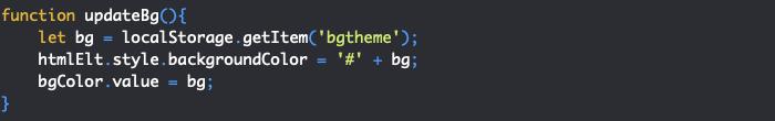 On utilise notre objet de stockage web storage en JavaScript