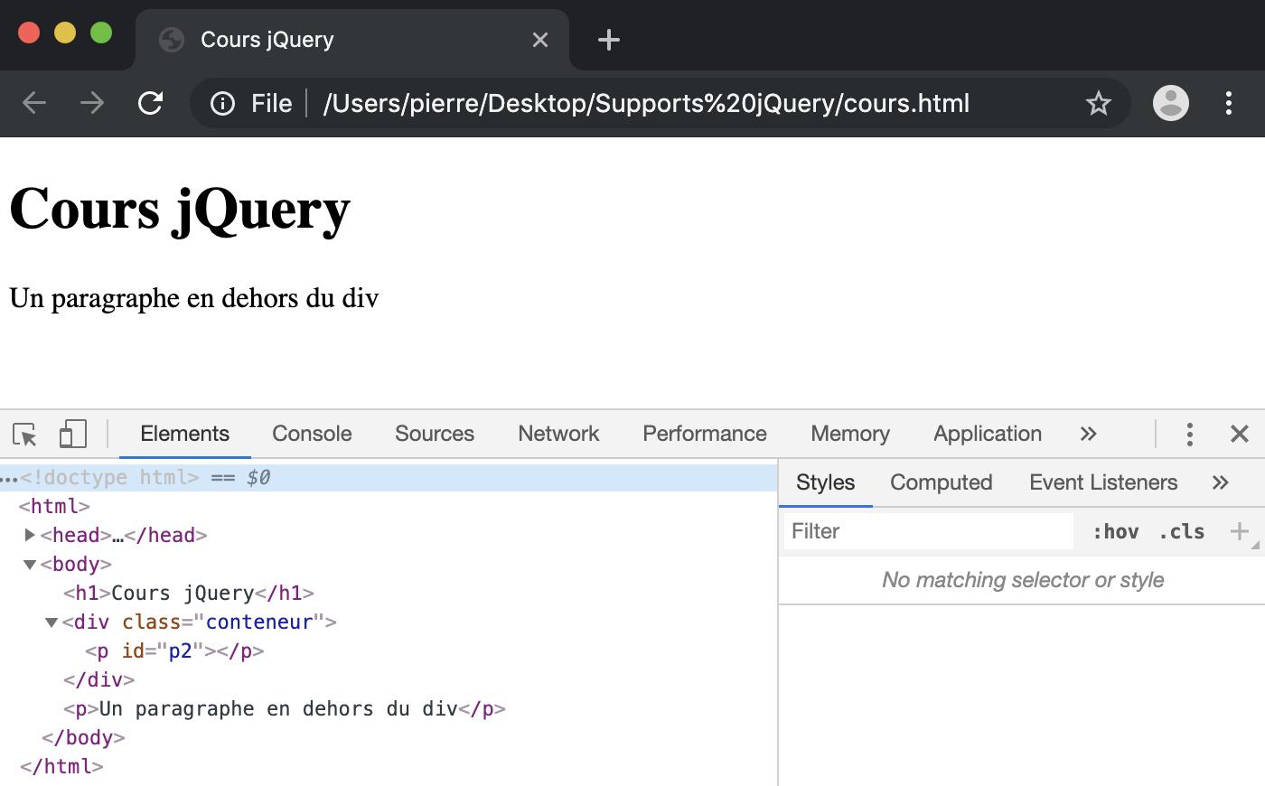 Supprimer des éléments du DOM en jQuery avec les méthodes remove detach empty et unwrap
