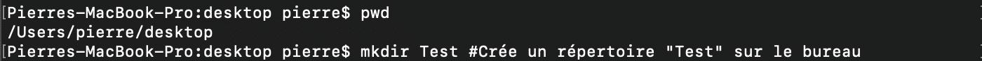 Utilisation de la commande shell bash mkdir pour créer de nouveaux répertoires
