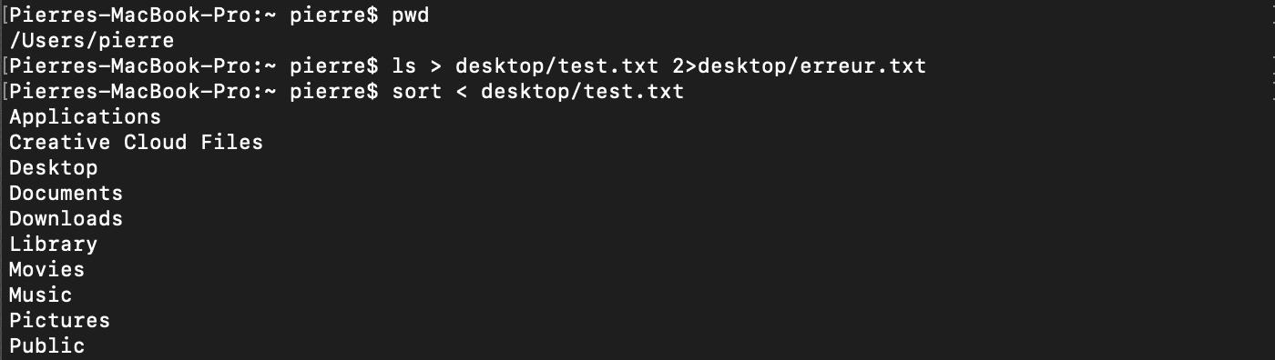 Redirection de l'entrée standard d'une commande shell bash