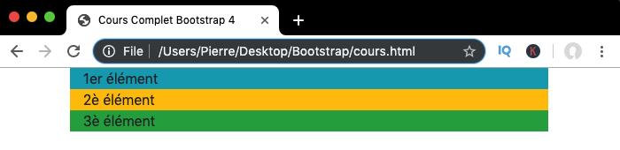 Affichage d'une grille Bootstrap avec colonnes responsive sur petits écrans