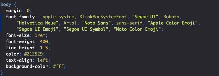 Styles reboot Bootstrap généraux body