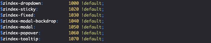 L'ordre des composants de Bootstrap