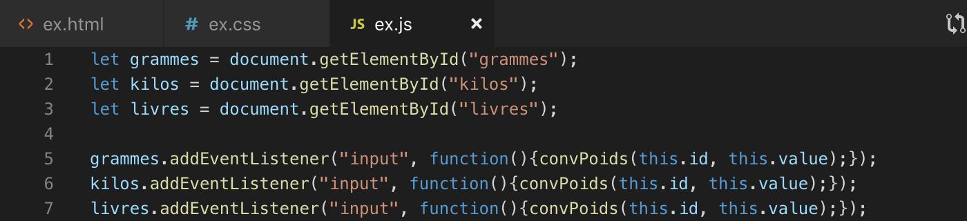 Utilisation de addEventListener pour récupérer des donnée input pour notre convertisseur JavaScript