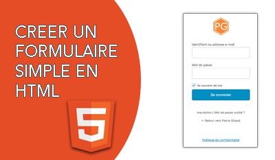 Création d'un formulaire HTML simple