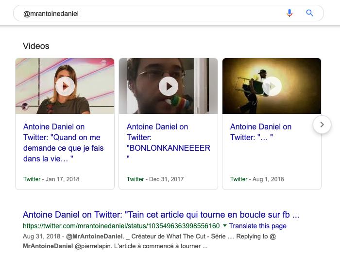 L'opérateur de recherche @ de Google
