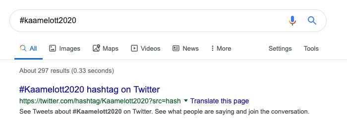 L'opérateur de recherche hashtag de Google