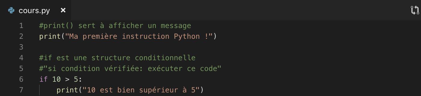On place notre code Python dans un fichier séparé