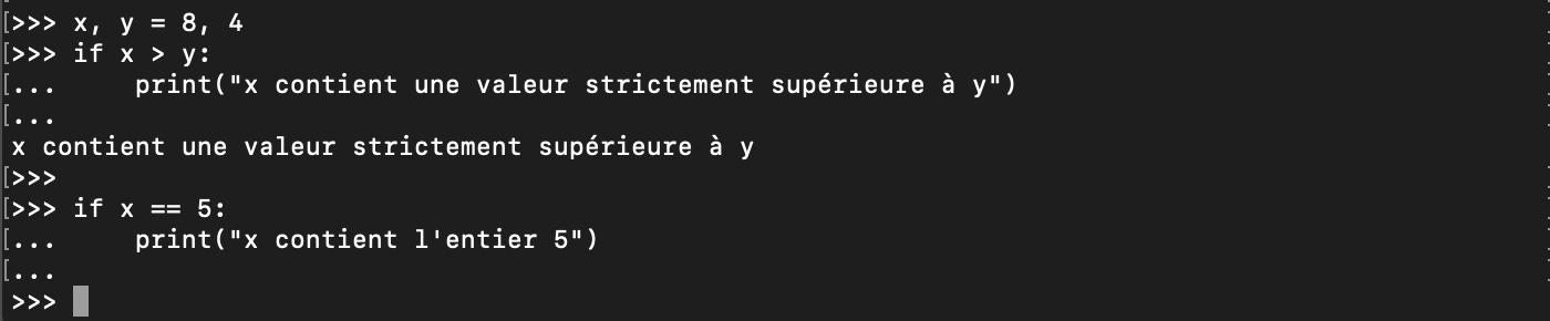 Python condition if syntaxe