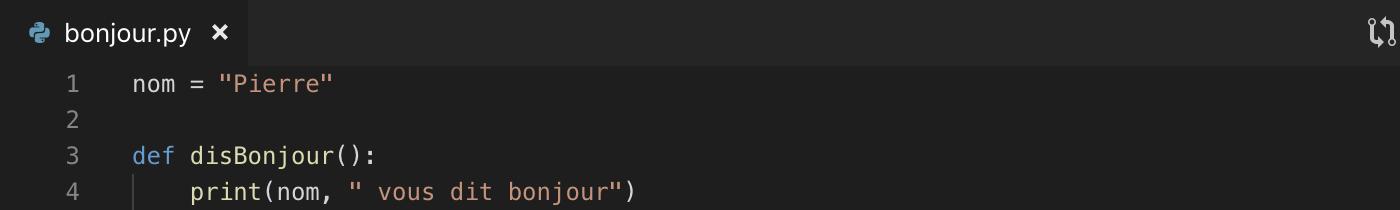 Création d'un module Python