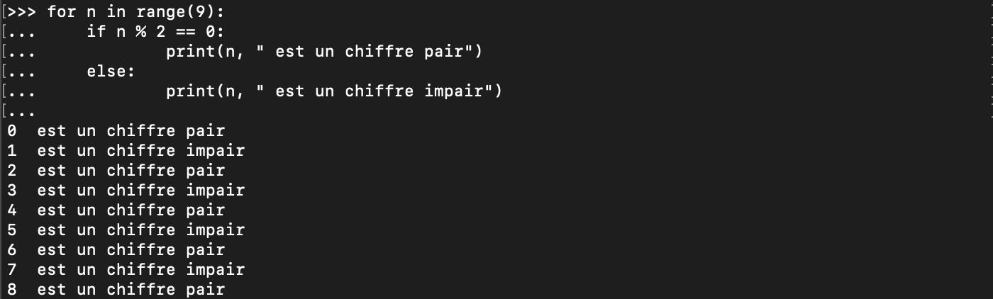 L'instruction Python break