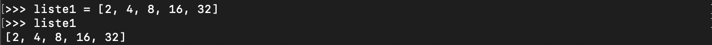 Liste d'entiers Python