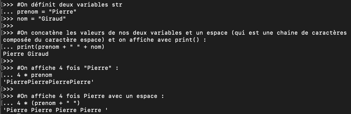 Les opérateurs de concaténation et de répétition en Python