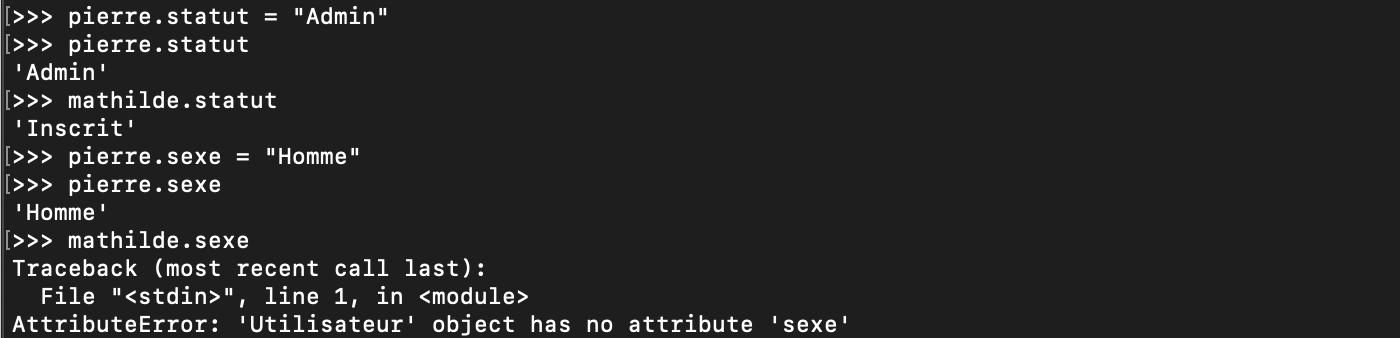 Ajout ou modification d'attribut de donnée Python