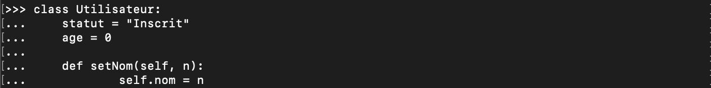 Création d'une classe en Python orienté objet
