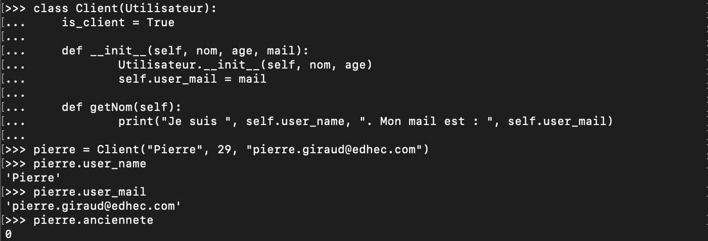 Etendre une méthode classe avec l'héritage Python