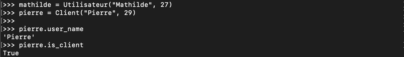 Héritage des membres d'une classe en Python orienté objet