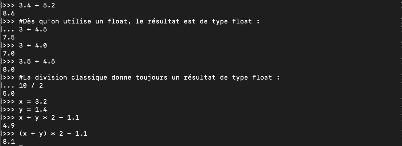 Le type de données float en Python