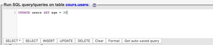 Requête SQL UPDATE pour mettre à jour toutes les entrées de la table