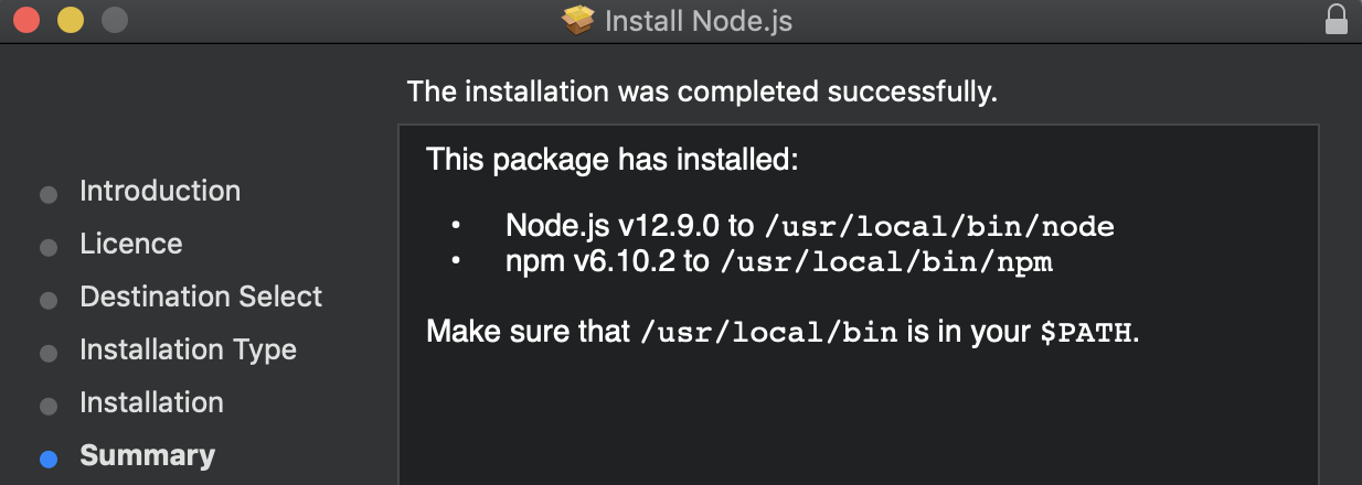 Installation de npm et variable $path