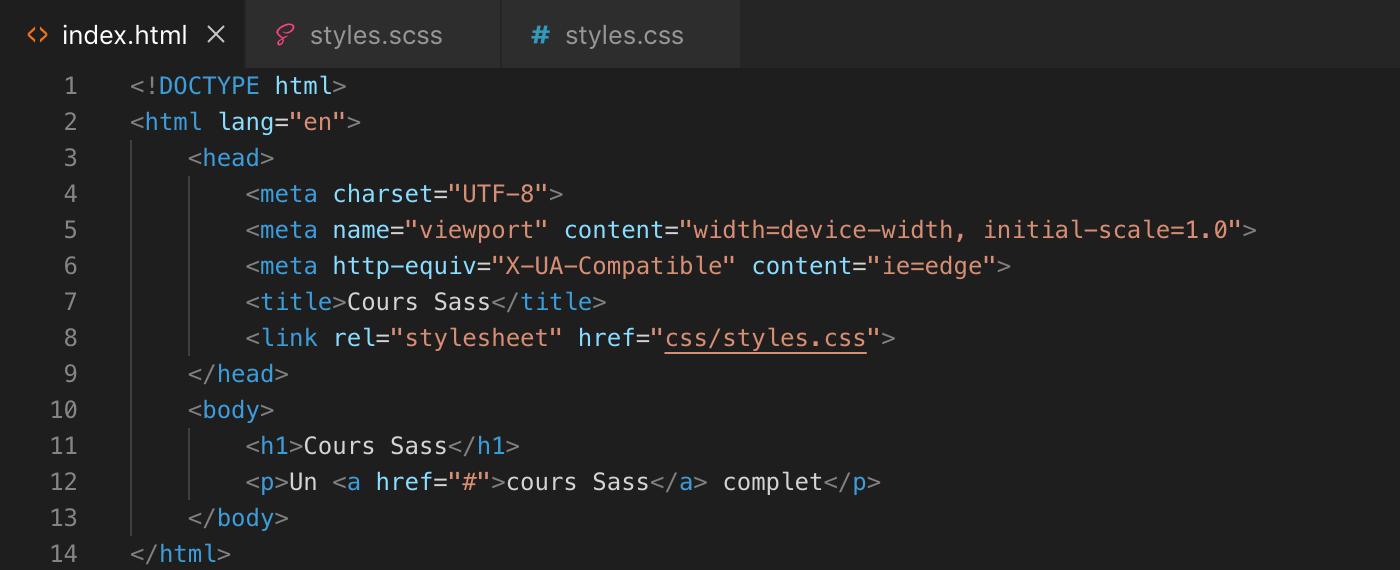 Exemple d'utilisation de la fonction adjust-color() de Sass - html