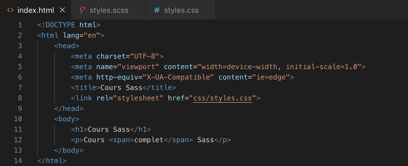 Présentation de la boucle while sass - html
