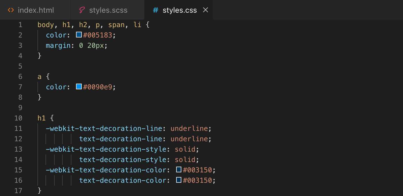 Exemple création fonction Sass - css