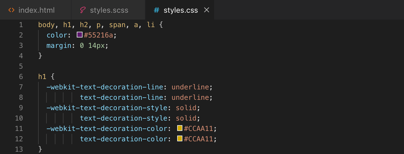 Exemple d'utilisation de la fonction round() de Sass - css