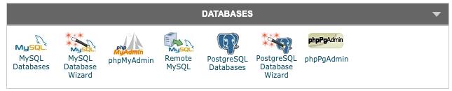 Gestion et création de bases de données via le cpanel