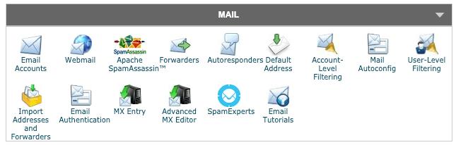 Gestion et création d'adresse mail via le cpanel