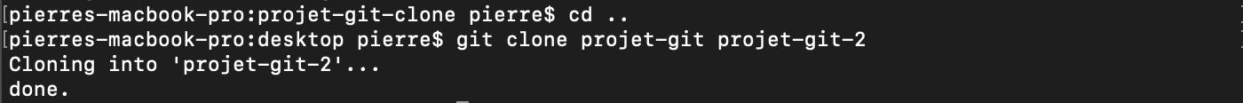 git clone projet local