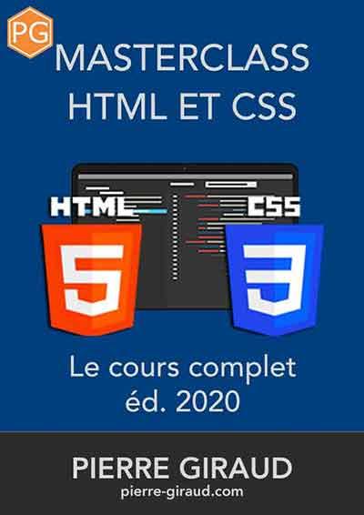 Couverture du livre HTML et CSS de Pierre Giraud